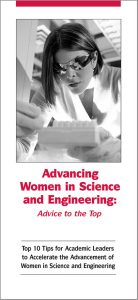 Advancing women brochure cover